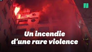 L'incendie à Paris filmé par les Sapeurs pompiers