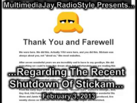 Stickam shut down