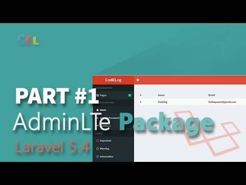 Laravel Install AdminLTe Package with Login Form - Full