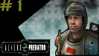 Aliens Versus Predator 2 - Marine Campaign #1 - Mission 1: Unwelcome Guests 1/3