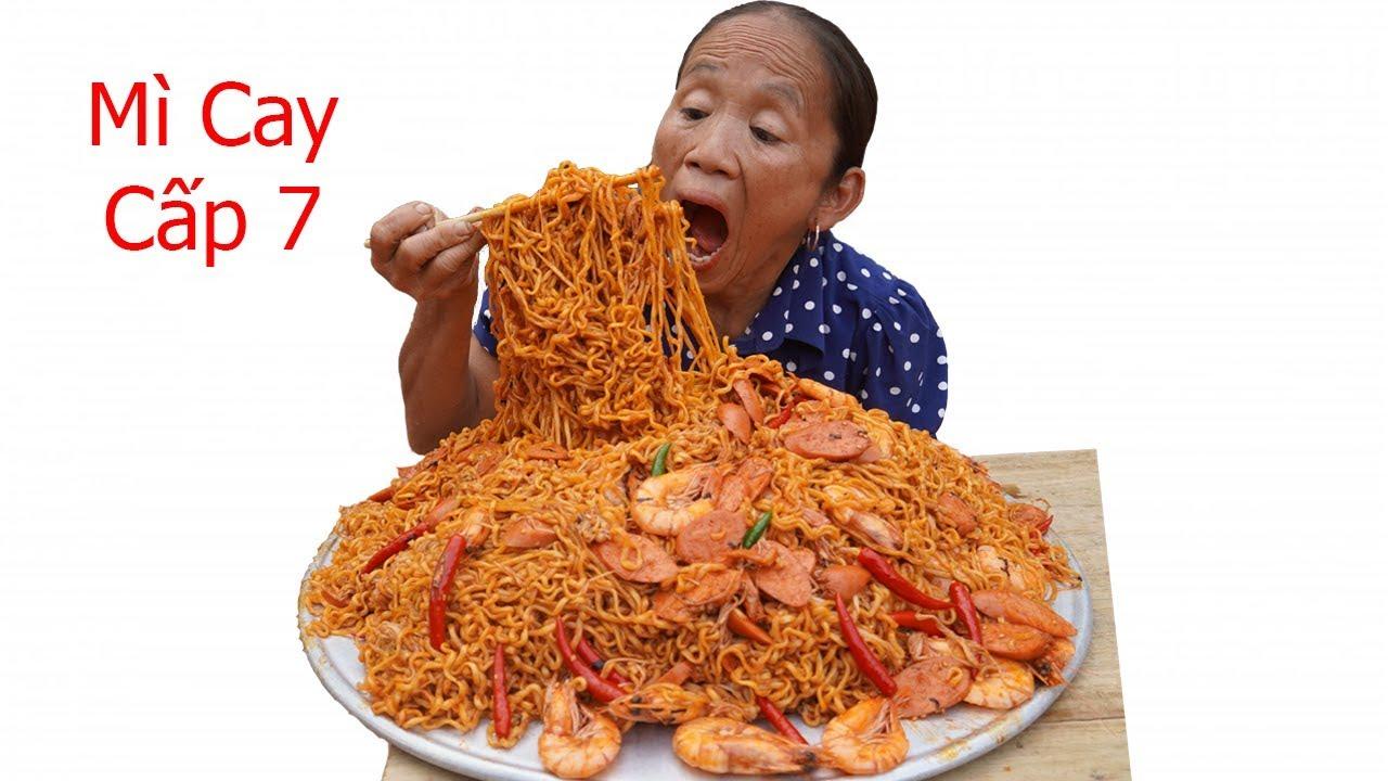 Bà Tân VLog – Làm Mâm Mì Trộn Siêu Cay Cấp Độ 7 Khổng Lồ | Eating korea spicy level7 noodle