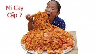 Bà Tân VLog - Làm Mâm Mì Trộn Siêu Cay Cấp Độ 7 Khổng Lồ | Eating korea spicy level7 noodle