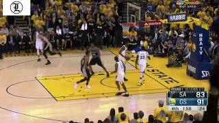 Crunch Time for Kevin Durant Golden State Warriors vs San Antonio Spurs 24APR2018 Game 5