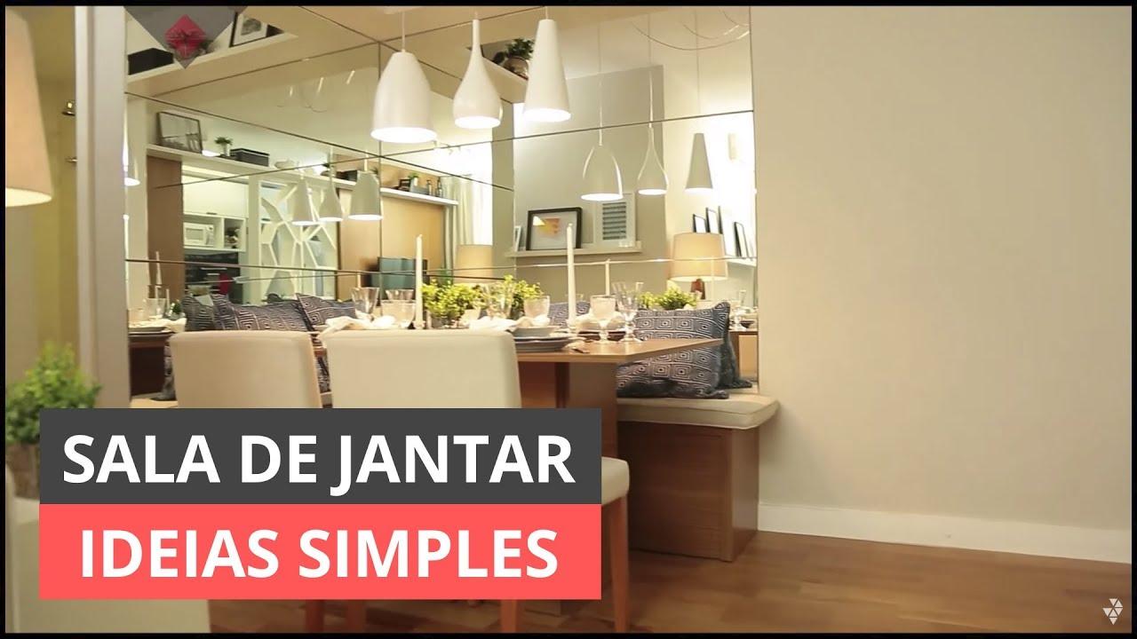 SALA DE JANTAR IDEIAS SIMPLES PARA DECORAR YouTube -> Ideias Para Decorar Hamburgueria