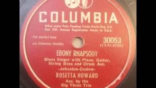 Rosetta Howard Big Three Trio Willie  Dixon Ebony Rhapsody Columbia 30053