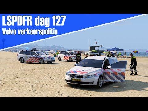 GTA 5 lspdfr dag 127 - Dienst met de Volvo verkeerspolitie!