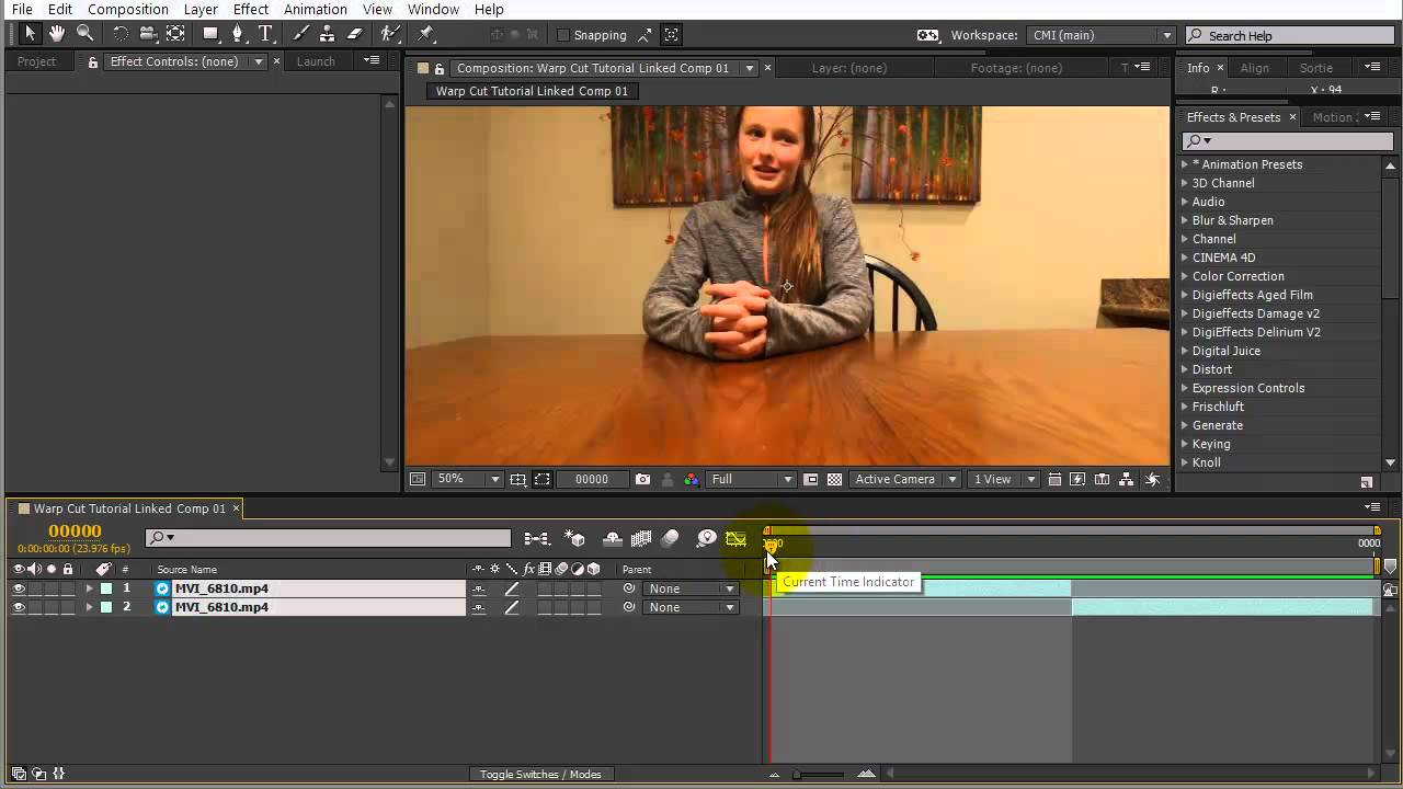 After Effects: Smoothing out Jump Cuts using Timewarp - Toolfarm