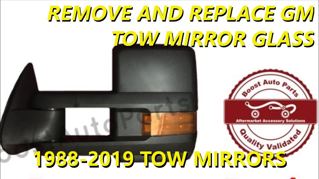 remove or replace tow mirror glass silverado or sierra 1988 2019 gm trucks suv s [ 1280 x 720 Pixel ]