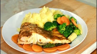 Bake Salmon &  Mashed potato