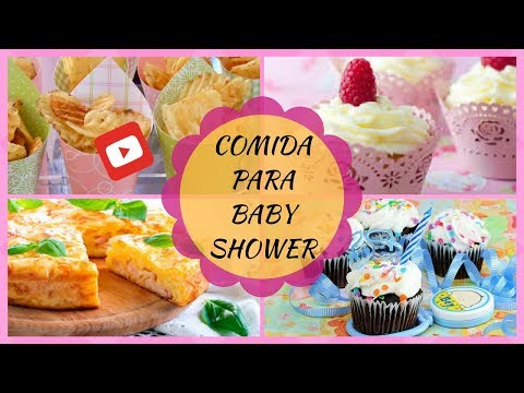 comida para baby shower youtube