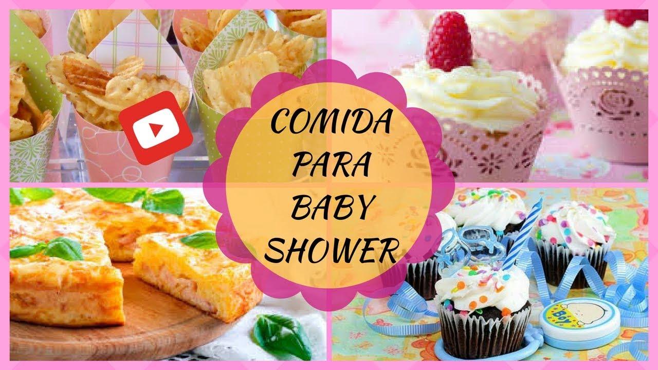 Comida Para Baby Shower - YouTube