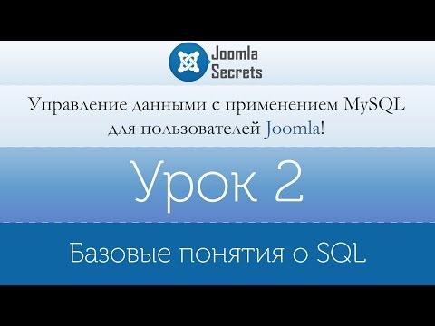 Урок 2 - Базовые понятия о SQL Joomla