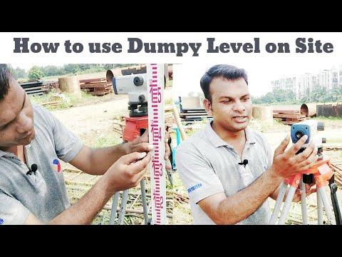 Dumpy Level    dumpy level survey     How to read staff     auto level