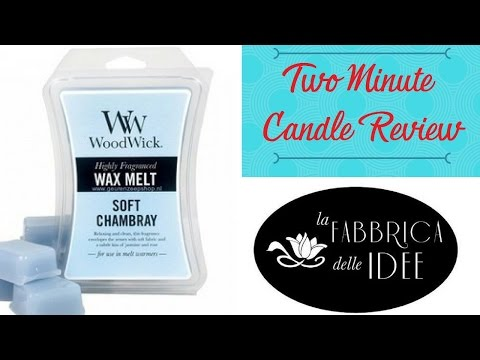 Two Minute Candle Review - Soft Chambray  Wood Wick