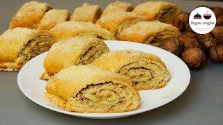 Армянская гата  Cлоеное печенье с грецкими орехами  Gata - Armenian Cookies