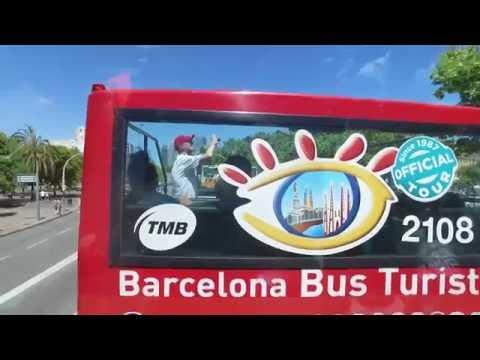 Bus tour around Barcelona, Spain #3 - June 2016 DJI Osmo
