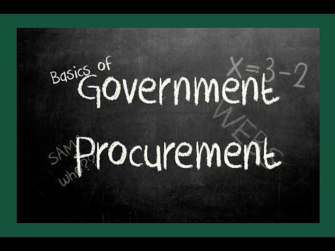 Basics of Government Procurement