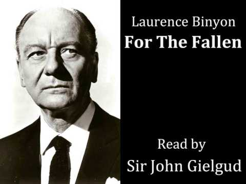 For the Fallen by Laurence Binyon - Read by Sir John Gielgud