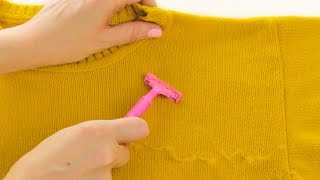 Clean Up Your Fuzzy Sweater | Flawless