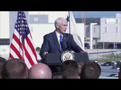 Vice President Pence Delivers Remarks at Kennedy Space Center