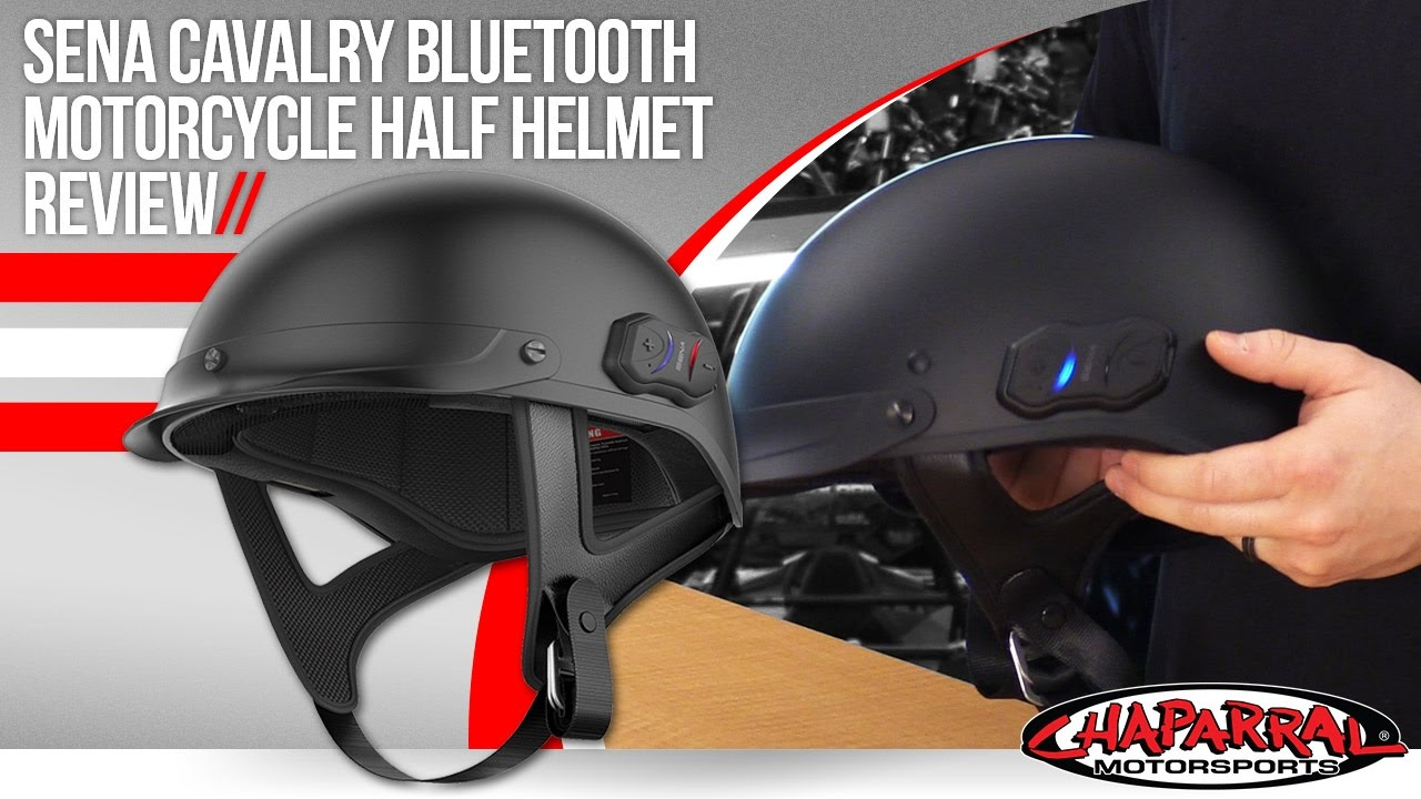 01b2a4a0 Sena Cavalry Bluetooth Motorcycle Half Helmet Review - YouTube