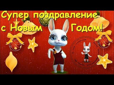 Zoobe Зайка С Новым годом! Лучшее поздравление от Зайки! - Ржачные видео приколы