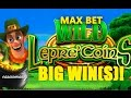 MAX BET! - WILD Lepre'COINS  Slot - BIG WIN!!! - Slot Machine Bonus