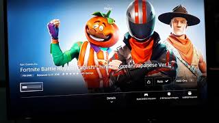 Fortnite is now FREE on ASIA region PS4 store