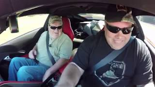 Taking Dad for a Ride in the modded C7 Z06!!