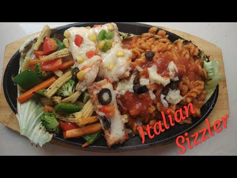 Italian Sizzler Vegetarian | No onion garlic |  Prasadam |  The Cooking Hub