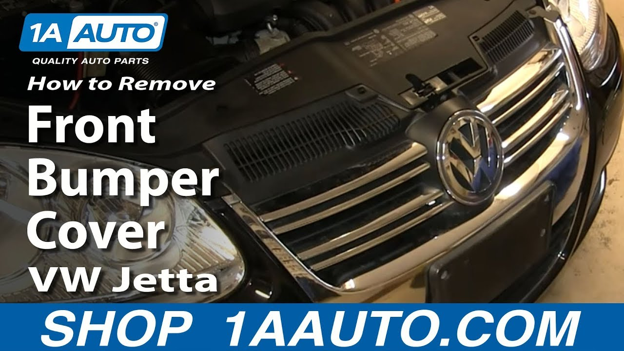 medium resolution of how to replace front bumper cover 05 10 volkswagen jetta
