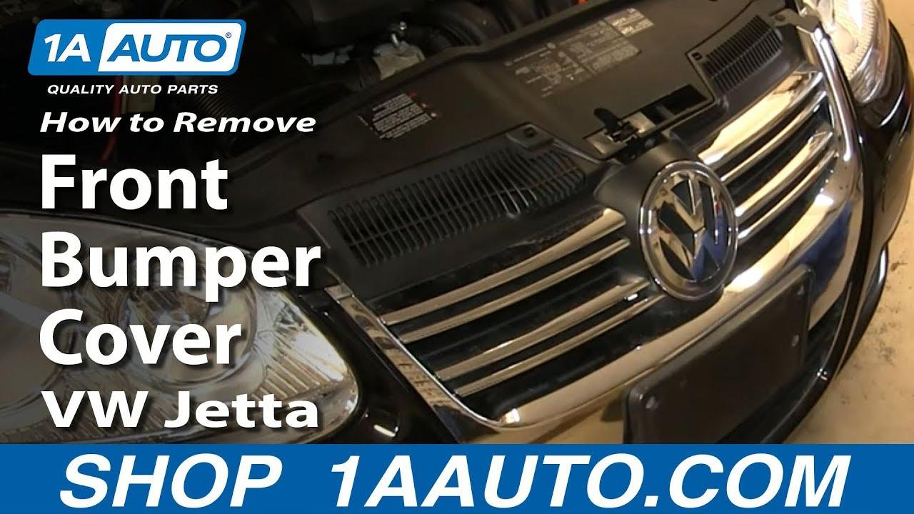 how to replace front bumper cover 05 10 volkswagen jetta [ 1280 x 720 Pixel ]