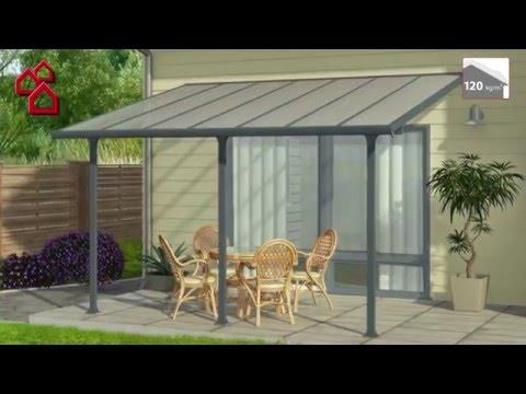 terrassen berdachung tuscany tiefe 3 m b x h 4 2 x 2 1 m verkehrswei bauhaus. Black Bedroom Furniture Sets. Home Design Ideas