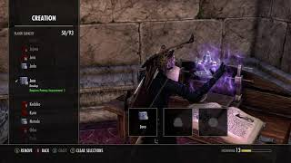 How to make a Trifling Glyph of Stamina (eso)