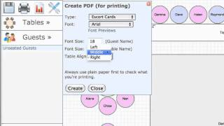 Printing Your Table Plans With Www.toptableplanner.com