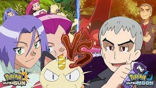 Pokemon Battle USUM Jessie and James Vs Nanu (Vs Team Rocket)