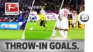 Top 10 Throw-Ins - Best Goals From Long Throws