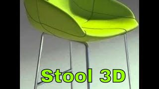 3d Model Fjord Bar Stool High Green