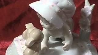 Vintage Otagiri Porcelain Music Box Brahms