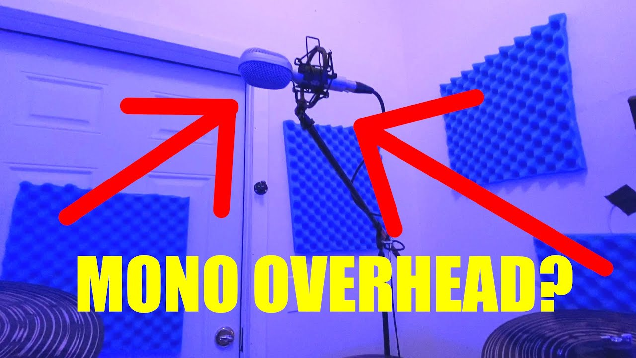 Mono Drum Overhead Mic Shootout - Ribbon vs Dynamic vs Condenser