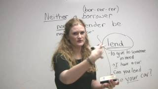 Vocabulary - Borrow, Lend, Rent, Use