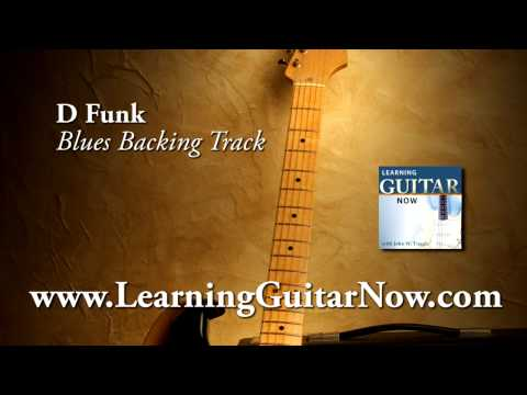 Funky Blues Backing Track in D