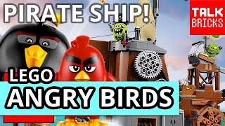 LEGO Angry Birds Movie Piggy Pirate Ship Review! Set 75825