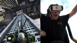 Dare Devil Dive Virtual Reality Roller Coaster POV New Revolution Six Flags Over Georgia