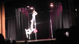 2014 Edinburgh pole dancing competition doubles routine karen & Alana