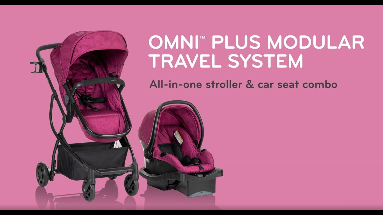 Evenflo Omni Plus Travel System With Litemax Infant Car Seat