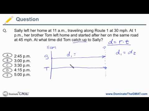 gmat rate problem - catch-up questions - gmat problem solving.mov