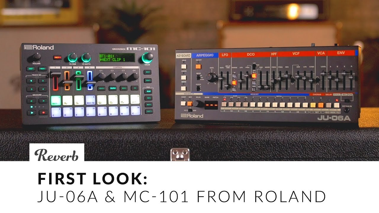 The Roland Boutique JU-06A & the MC-101: A First Look | Reverb