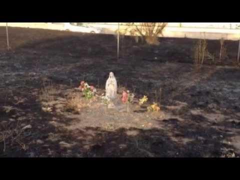 IMPRESIONANTE: Imagen de la VIRGEN INTACTA tras incendio y TEMBLOR 2018 sucesos inexplicables