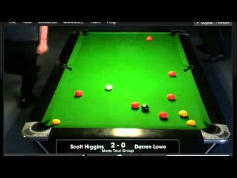 EBPF Tour Finals 2013 Men's Group Stage   Scott Higgins v Darren Lowe